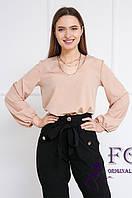 Однотонна блузка з широкими рукавами 018В / 01, фото 1
