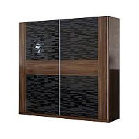 Шкаф-купе Паула LasCavo 180×221×63 дуб борас/черный лак