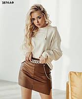 Женская юбка-шорты с поясом 3874 АФ, фото 1