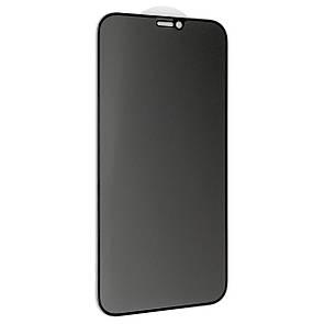 "Защитное стекло DK Full Glue Антишпион для Apple iPhone 12 Pro Max 6.7"" (black)"