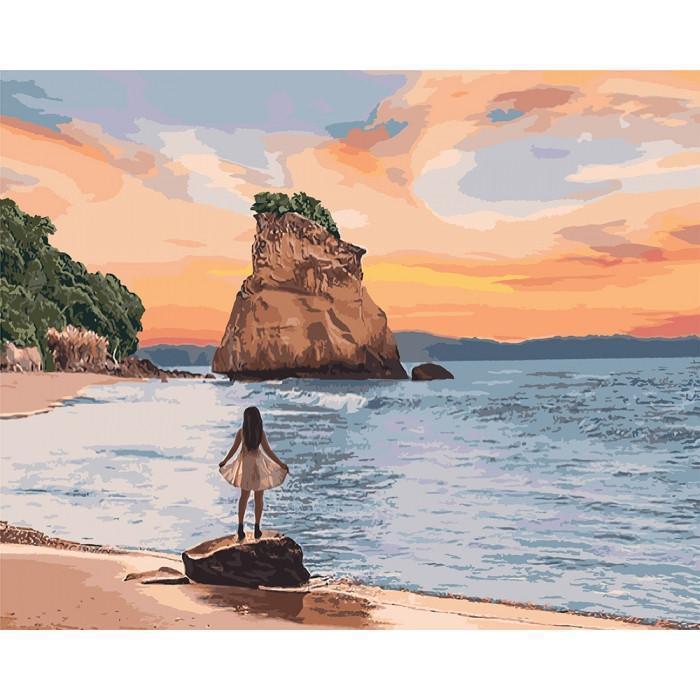 "Картина по номерам  ""Необитаемый остров"" 40*50см  KHO4727"