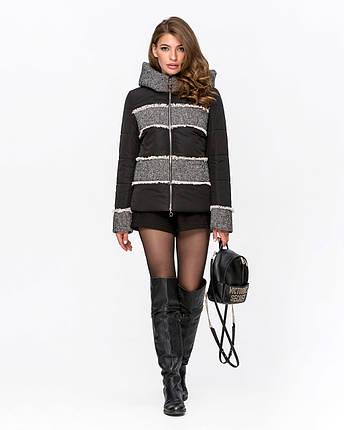 Стильна жіноча комбінована куртка з твидом 44-54 р, фото 2