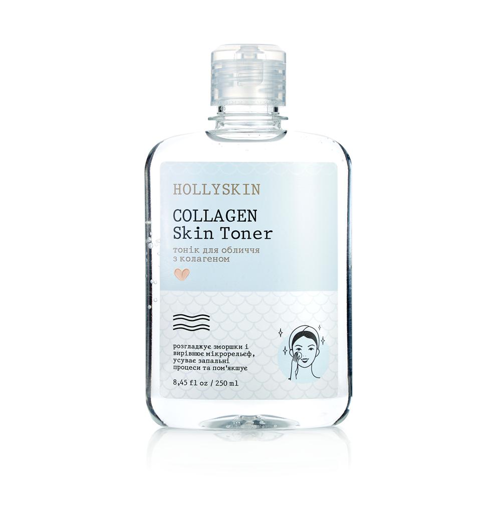 Тонік для обличчя Collagen Skin Toner Hollyskin 250 мл