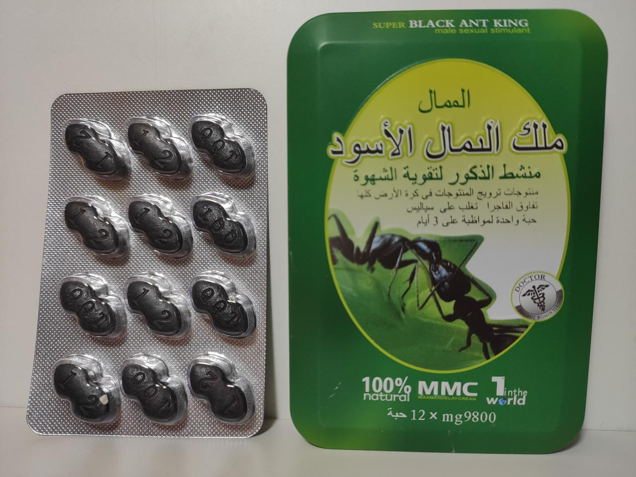 Черный Муравей таблетки для потенции (12 таблеток)