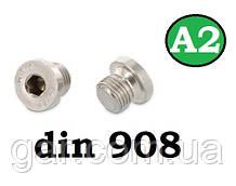 Заглушка DIN 908 M10x1 A2