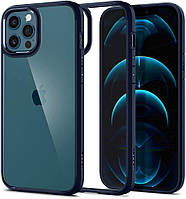 Чохол Spigen для iPhone 12 Pro Max - Hybrid Ultra, Navy Blue (ACS02248)