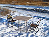 """Складной набор туристический стол и стулья со спинкой, для пикника, дачи, сада, рыбалки """"Классический ФП2Х+2"""""""
