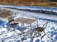 """Складной набор туристический стол и стулья со спинкой, для пикника, дачи, сада, рыбалки """"Классический ФП2Х+2"""", фото 1"""