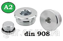 Заглушка DIN 908 M12x1,5 A2