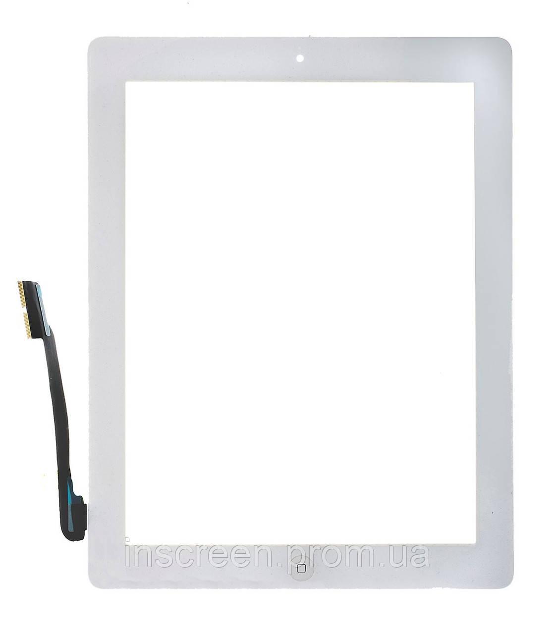 Тачскрин (сенсор) Apple iPad 4 A1458, A1459, A1460 белый, полный комплект, копия высокого качества
