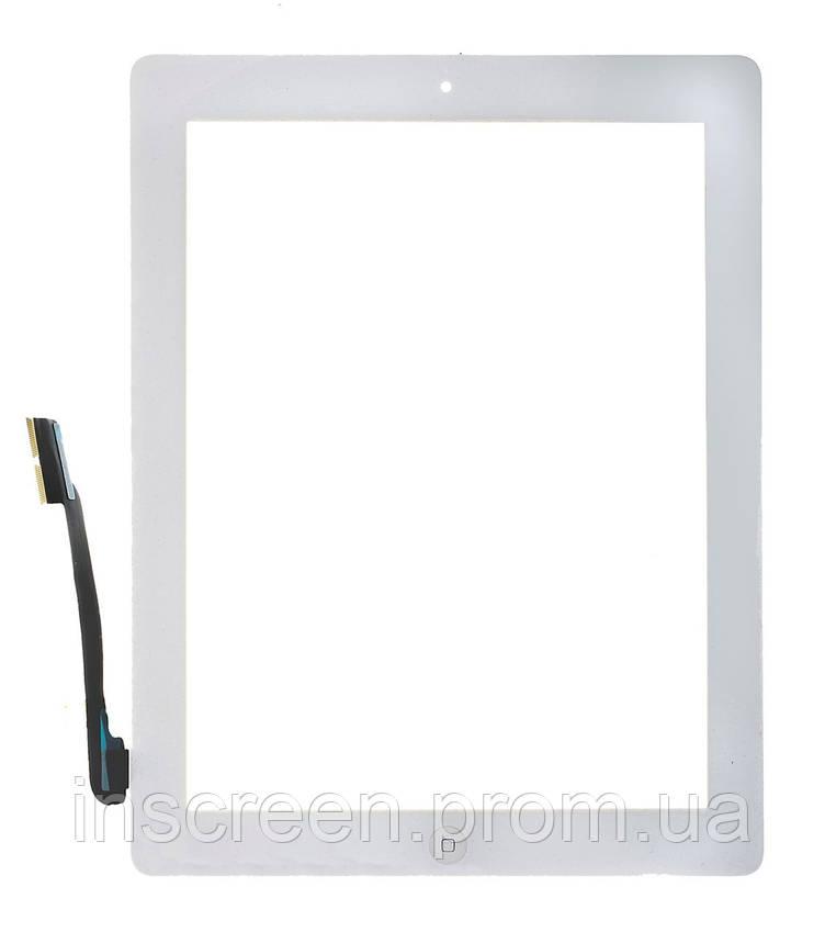 Тачскрин (сенсор) Apple iPad 4 A1458, A1459, A1460 белый, полный комплект, копия высокого качества, фото 2