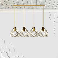 Люстра подвесная на 4-лампы RUBY-4 E27 золото, фото 1