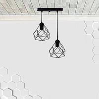 Підвісна люстра на 2-лампи RUBY-2 E27 чорний, фото 1