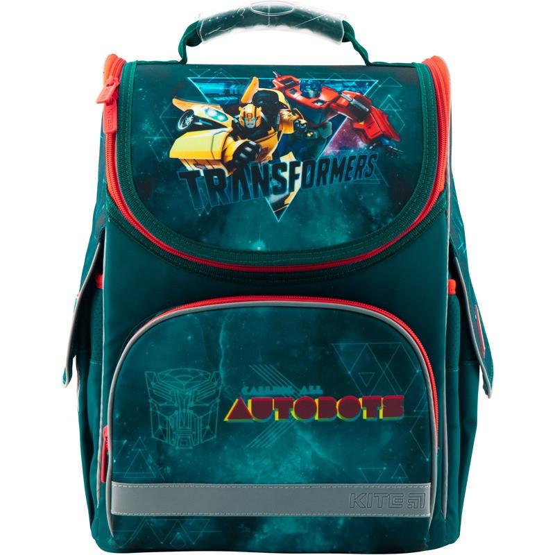 Рюкзак школьный ортопедический каркасный для мальчика в 1-3 класс Kite Transformers TF19-501S-1