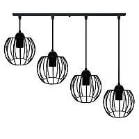 Підвісна люстра на 4-лампи BARREL-4 E27 чорний