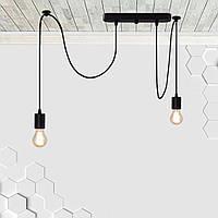 Светильник подвесной на 2-лампы CEILING/SP-2 E27 чёрный, фото 1