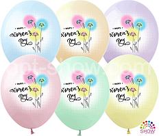 "Латексные шары 12"" (30 см) ""Happy Women's Day""  10 шт"