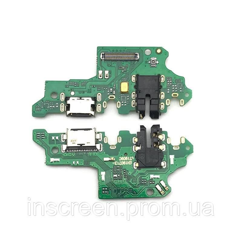 Плата зарядки Huawei P Smart Z STK-L21, Y9 Prime 2019 с разьемом зарядки, с микрофоном, с разьемом наушников