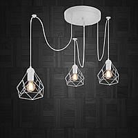 Люстра подвесная на 3-лампы RUBY/SP-3W E27 белый, фото 1
