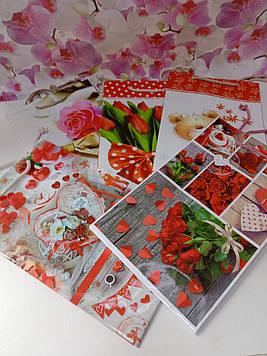 Подарунковий пакет паперовий жіночий з малюнком квіти на свято 16 на 27см