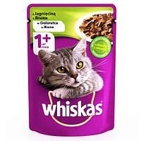 Влажный корм Whiskas для котов, с ягненком в желе, 100 г