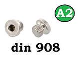 Заглушка DIN 908 M30x1.5 A2, фото 3
