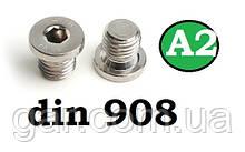 Заглушка DIN 908 M30x2 A2