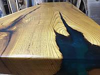 Столешница из дерева Шелковицы с эпоксидной смолой, фото 1