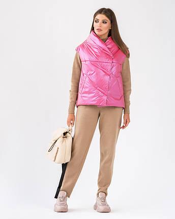Стильний жіночий короткий жилет з плащової тканини 44-60 р, фото 2