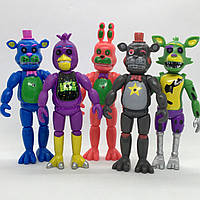 Набор фигурок Кошмарные аниматроники из игры Пять Ночей у Фредди 5в1 ФНаФ 14 см. Five Nights at Freddys FNaF, фото 1
