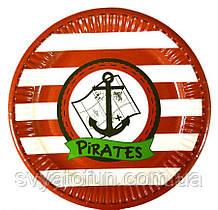 """Набір тарілок """"Пірати якір"""" 10шт/уп"""