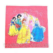 Салфетки Принцессы Дисней-2 на розовом 20шт/уп