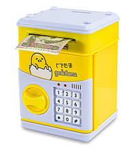 """Распродажа! Музыкальная копилка для детей (""""Цыпленок"""", желтый) игрушечный детский сейф с кодом - дитячий сейф"""
