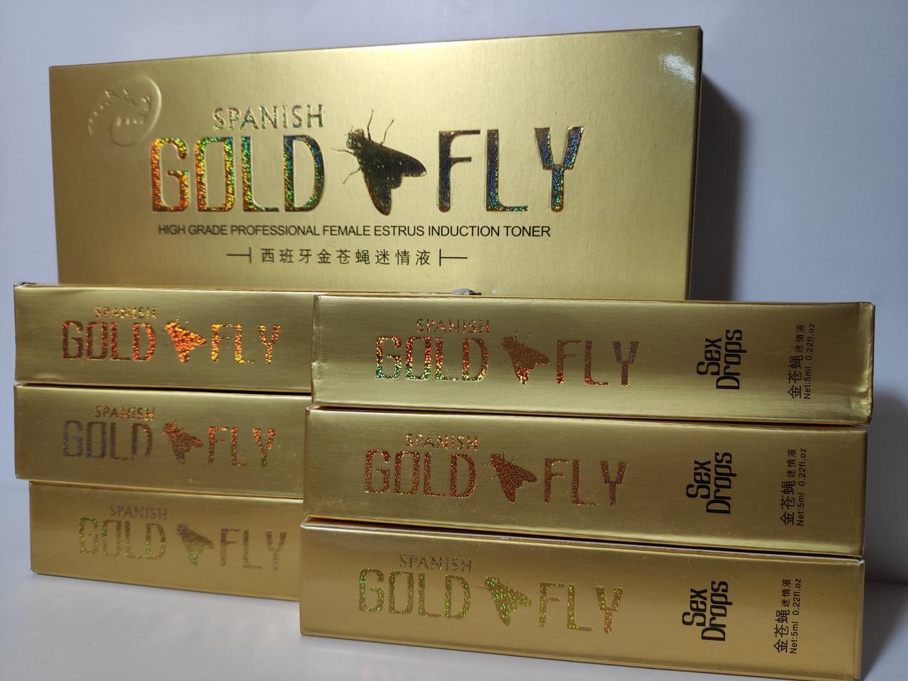 Голд флай 6 шт Шпанская мушка возбуждающие капли для женщин Spanish Gold Fly (капли)
