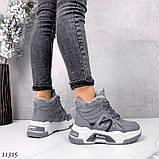 Сірі зимові черевики, кросівки маленькі розміри, фото 4