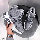 Сірі зимові черевики, кросівки маленькі розміри, фото 8