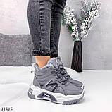 Сірі зимові черевики, кросівки маленькі розміри, фото 9