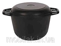 Кастрюля чавунна з кришкою-сковорідкою 3л (0203) ТМ БІОЛ