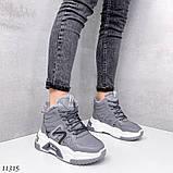 Сірі зимові черевики, кросівки маленькі розміри, фото 10