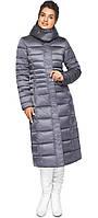 Женская длинная куртка зимняя цвет жемчужно-серый (ОСТАЛСЯ ТОЛЬКО 54(2XL))