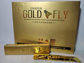 Шпанская мушка возбуждающие капли для женщин Spanish Gold Fly Голд Флай (12 шт.)