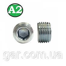Пробка коническая резьбовая М10х1 DIN 906 А2