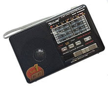 Радиоприемник c USB + Micro SD и аккумулятором, Golon RX-2277 Чёрный, с MP3 плеером от флешки