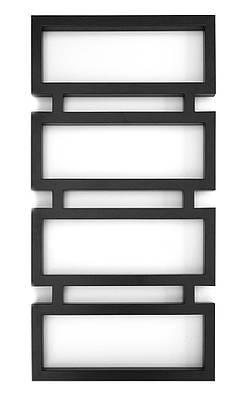 Полотенцесушитель водяной Genesis-Aqua Quattro 120x53 см черный