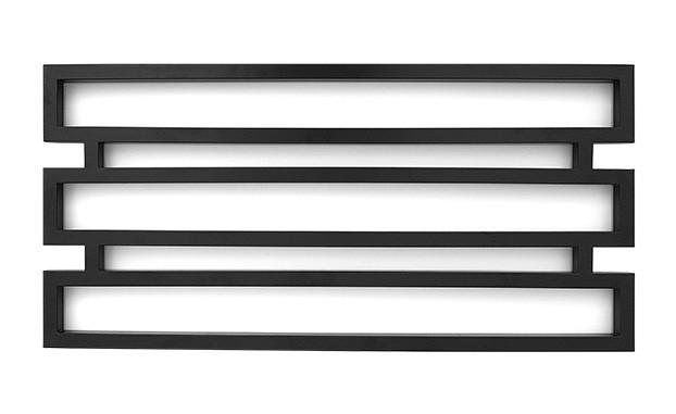 Полотенцесушитель водяній Genesis-Aqua Omnia 120x55 см чорний