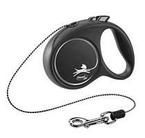 Flexi Black Design XS поводок-рулетка (3м, до 8кг, трос)