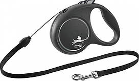 Flexi Black Design S поводок-рулетка (5м, до 12кг, трос)
