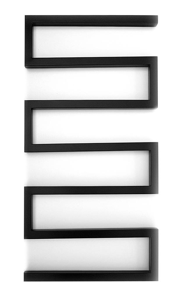 Електричний полотенцесушитель Genesis-Aqua Snake 100x53 см чорний