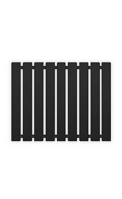 Полотенцесушитель водяной Genesis-Aqua Batteria 80x60 см черный