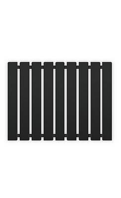 Полотенцесушитель водяной Genesis-Aqua Batteria 100x60 см черный